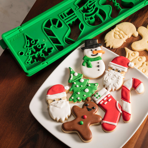 Press 'n Bake with decorated Christmas cookies