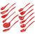 Hutzler Set of 12 Melamine Utensils, red