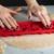 Press 'n Bake pressing into dough