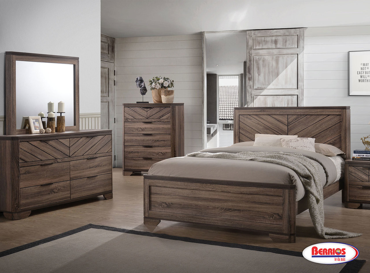 C7309 Dante Black And Brown Bedroom Set Berrios Gives You More