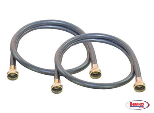 71105 Black EDPM Rubber Washing Machine Hoses, 2 pk (4ft)