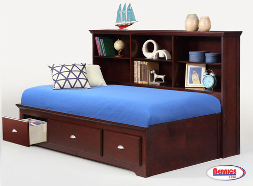 3606 Merlot Etha Bookcase Bed