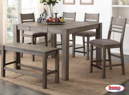 1126 Grey Alonzo Counter Height Dining Room