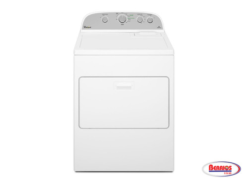 75190 Whirlpool 7.0 cu. ft. Electric Dryer with Wrinkle Shield Plus | White