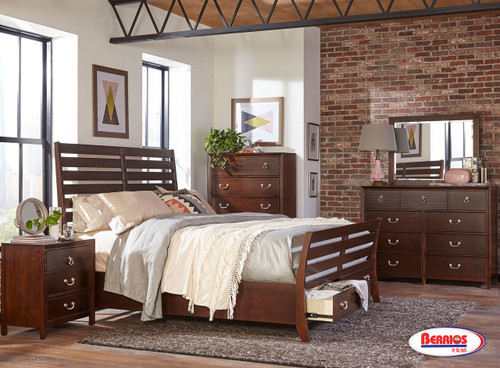 6120 RAPHAEL JUVENIL BEDROOM | DARK CHERRY