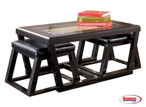 62680 Kelton Cocktail Table with 2 Stools
