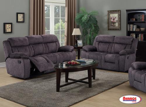 30011 Smoke Reclining Living Room Set