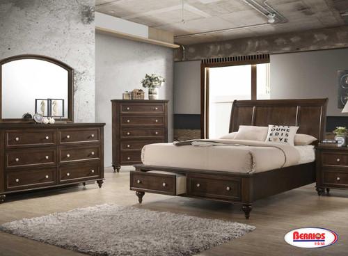 773 Casey Dark Brown Bedroom