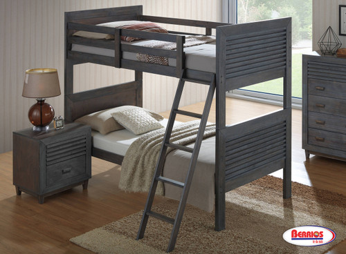 200 Grey Ubber Bunk Bed | Twin-Twin