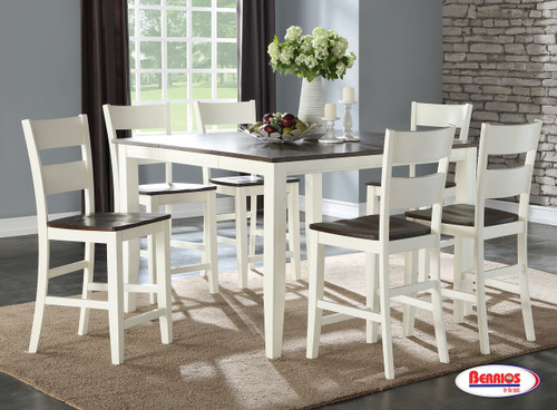 8208 Chestnut Ivory Counter Height Dining Room