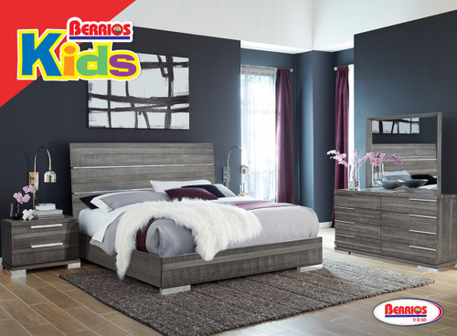 501 Milano Dark Gray Bedroom (Juvenil)