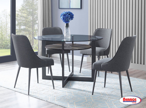 480 Charcoal Dining Room