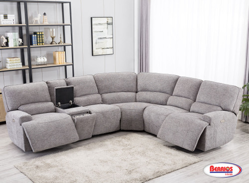 U6260S Galaxy Sectional Living Room with Power Recliner