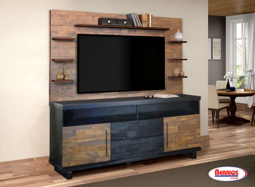 421 Industrial Entertainment Wall Unit