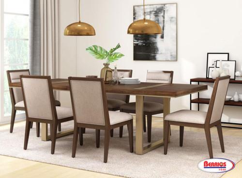 13126 Milan Brown Rectangular Dining Room