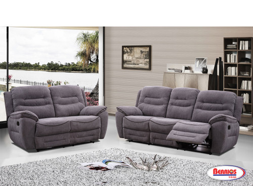 Napoli Gray-Black Recliner Living Room