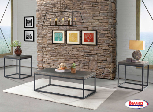 Jared Wood Grey Occasional Tables