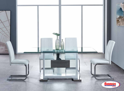 1182 Clear Glass Dining Room