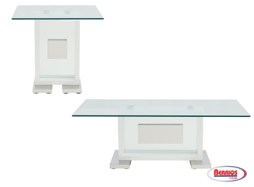 1182 Clear Glass Occasional Tables