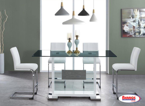 1181 Clear Glass Counter Height Dining Room