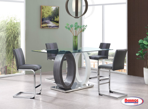 1628 Grey / White Counter Height Dining Room