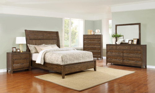 009 Distressed Brown Urban Bedroom