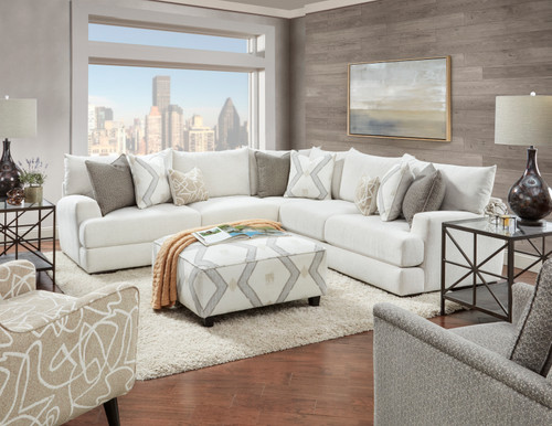51000 Braxton Ivory Sectional Living Room