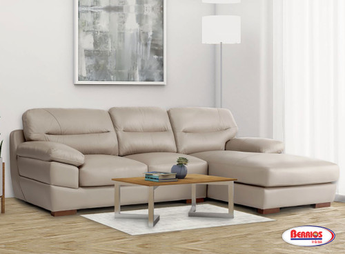 """37852 Seccional Jericho """"Taupe Leather Match"""""""