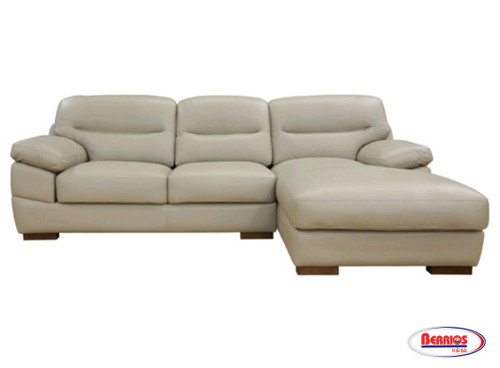 37852 Jericho Taupe Sectional Leather Match