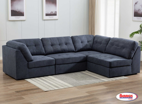9377 Cosmo Midnight Blue Sectional