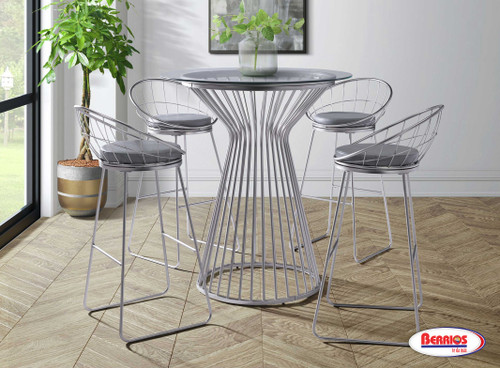 100 Lavina Chrome Counter Height Dining Set