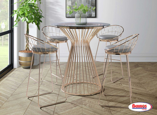 200 Lavina Gold Pub Height Dining Collection