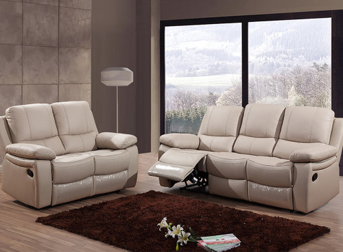8610 Reclining Living Room - Leather / PVC