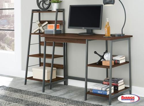 84301 Soho Dark Brown Home Office Desk and Shelf