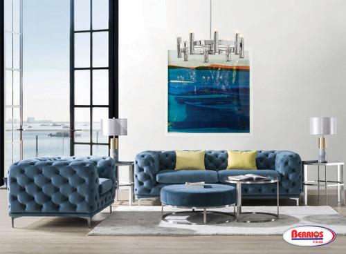 XF294 Sala de Estar Azul Velvet