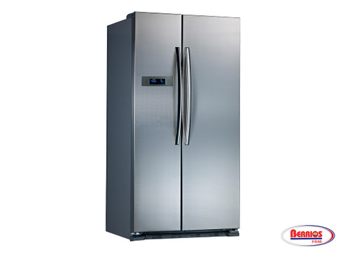 71093 |  Midea Side by Side Refrigerator Stainless Steel 18.6'