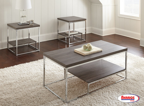 71414 Lucia Occasional Table 3pcs.   Gray