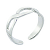 Toe Ring Celtic Braid Band Design - Hallmarked 925 Sterling Silver