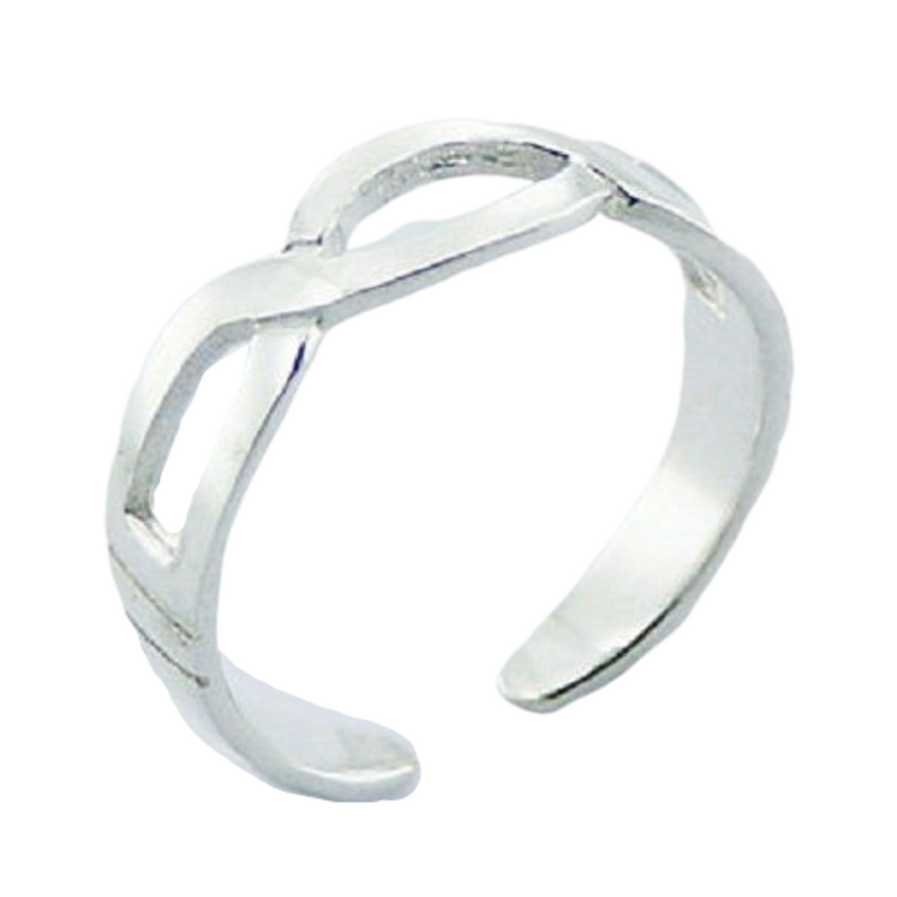 Bali Style Ball Bead Midi Split Wire Band Toe Ring 925 Silver Sterling Adjustable