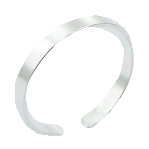 Toe Ring Thin Silver Band Design - Hallmarked 925 Sterling Silver