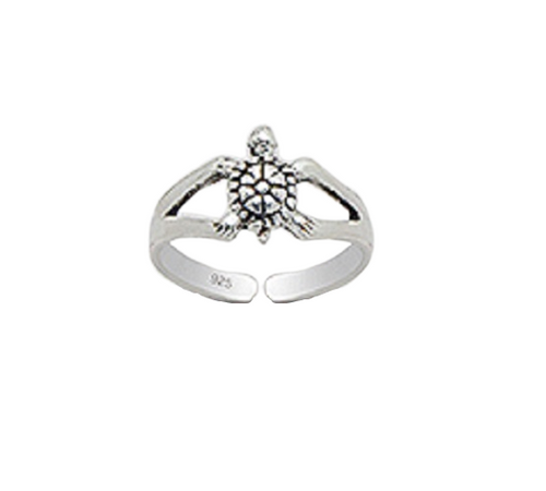 Toe Ring Small Turtle Design - Hallmarked 925 Sterling Silver