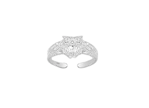 Toe Ring Wise Owl Design - Hallmarked 925 Sterling Silver