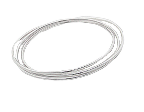 Silver Bangle Triple Interlocked