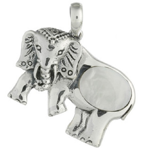 Mother Of Pearl Pendant Elephant