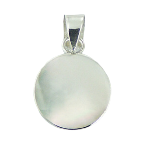 Mother Of Pearl Pendant Small Round