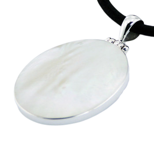 Mother Of Pearl Pendant Large Oval