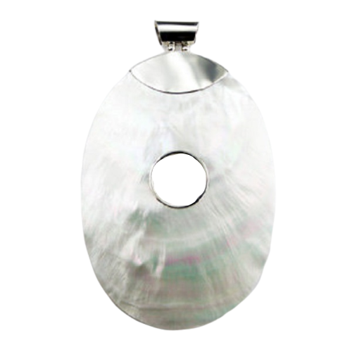 Mother Of Pearl Pendant  Open Circle