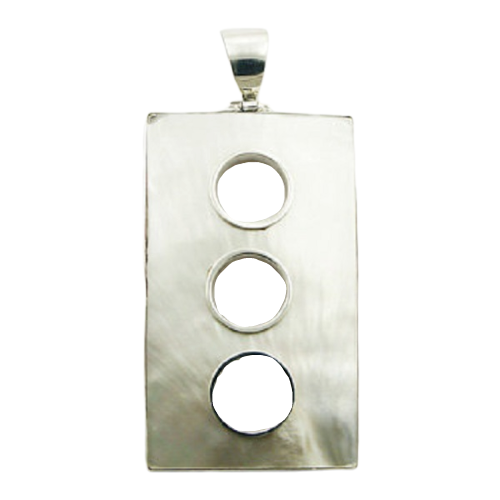 Mother Of Pearl Pendant Three Open Circles