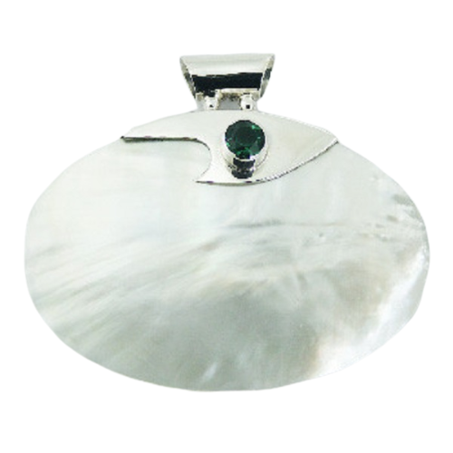 Mother Of Pearl Pendant With Peridot