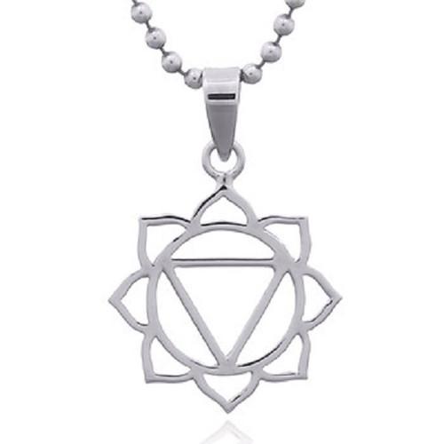 Silver Pendant Sola Plexus Chakra